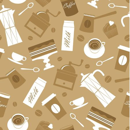 coffee grinder: Seamless coffee pattern