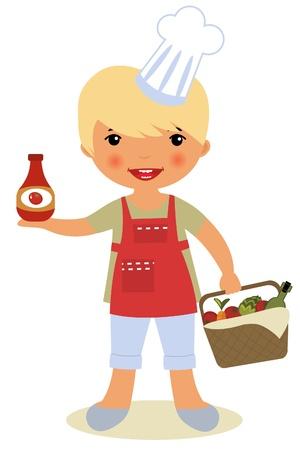 Happy cook Stock Vector - 14062519