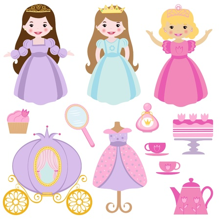 princess: Principessa partito Vettoriali