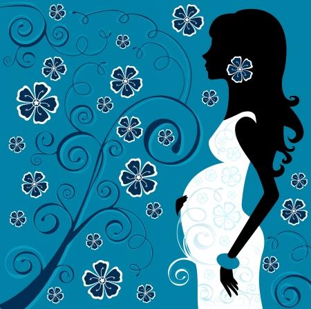 motherhood: Pregnant beauty in flowers