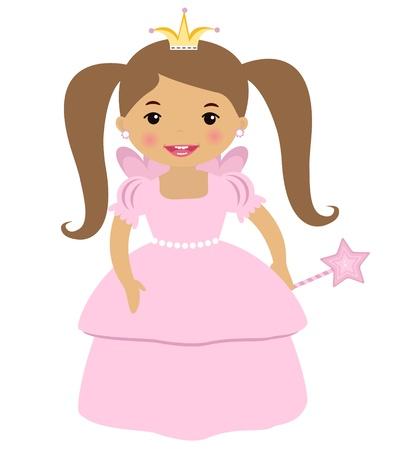 hadas caricatura: Linda princesa Vectores