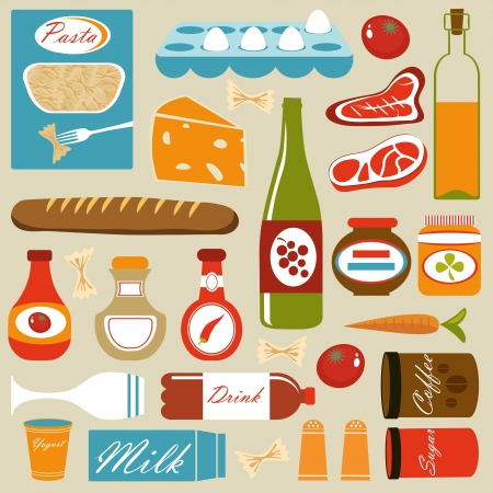 Food composition Stock Vector - 14096022