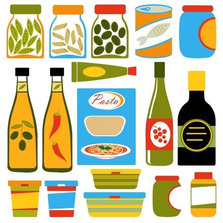 olive oil bottle: Colorful food composition