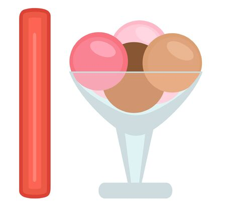 I is for ice cream Vector