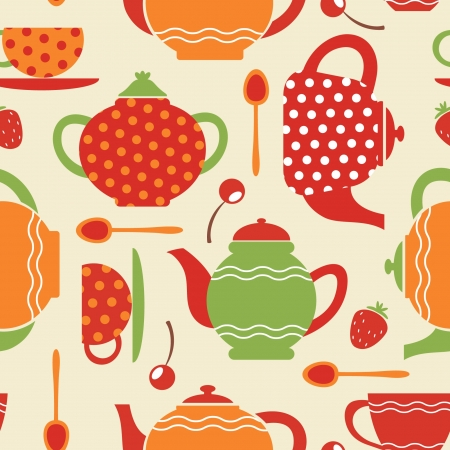 Tea seamless pattern Stock Vector - 14248524