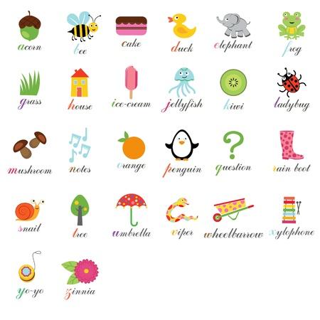 Cute alphabet Stock Vector - 14396126