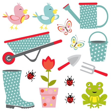 ladybug: Cute gardening collection