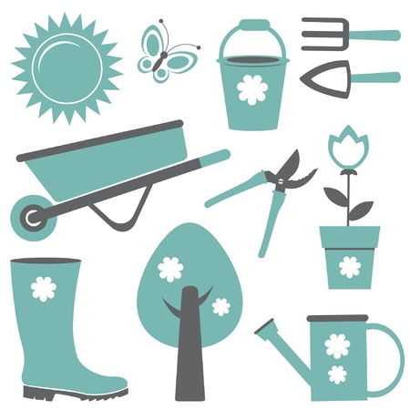 wheelbarrow: Gardening set