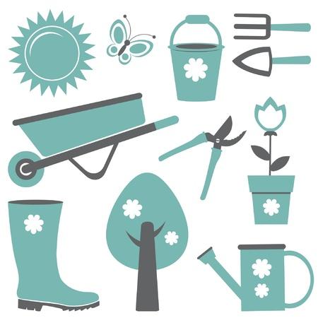 Tuinieren set Vector Illustratie
