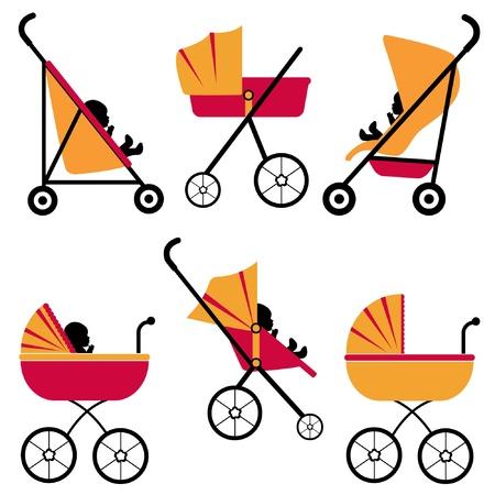 stroller: A cute baby strollers set