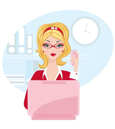 Office beauty Stock Vector - 14668728