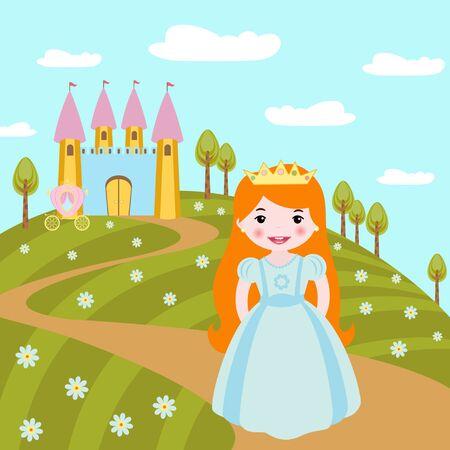 little princess: Cute little princess Illustration