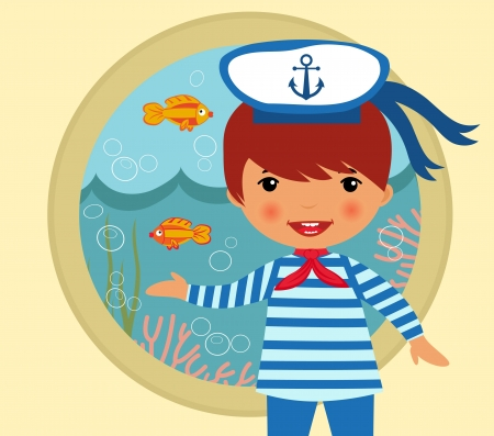 ocean view: Cute sailor