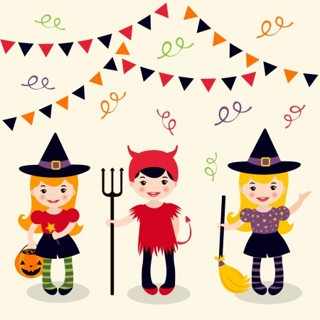 Halloween girls Illustration