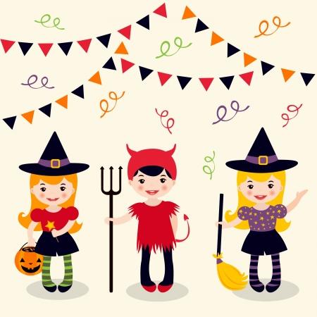 halloween party: Halloween meisjes