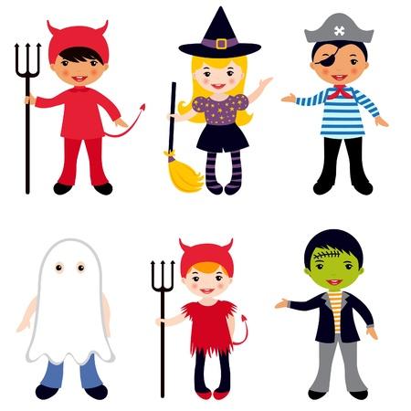carnival girl: Halloween de los ni�os Vectores
