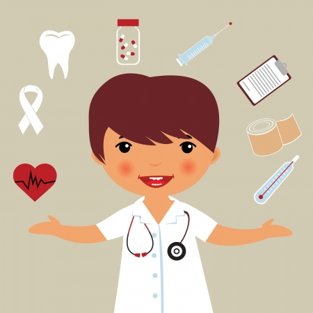 krankenschwester spritze: Kleine Doktor