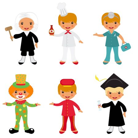 kid doctor: Vector illustration of people professional occupations