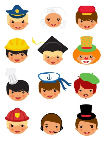 Professional occupations icons Vector