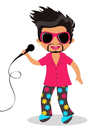 Rock star Stock Vector - 14891360