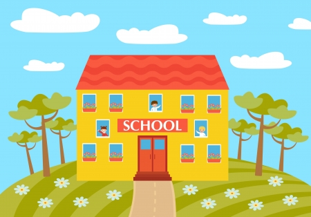 School Stock Vector - 14891373