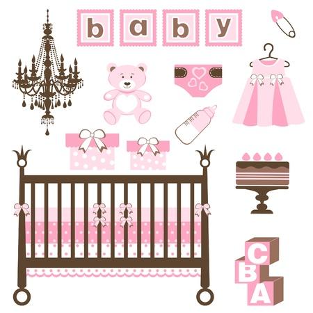 baby shower girl: An elegant baby girl set