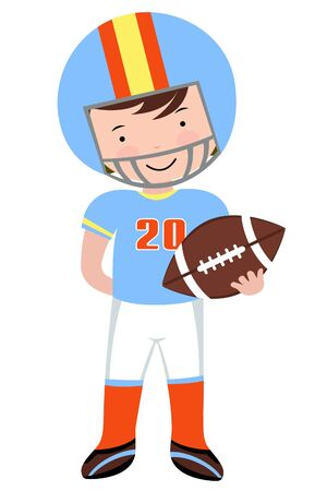 An illustration of an american football player Vector