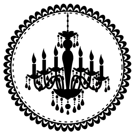 An illustration of chandelier Vector