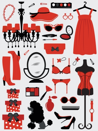 A fashion women accessories collection Stock Vector - 15491427