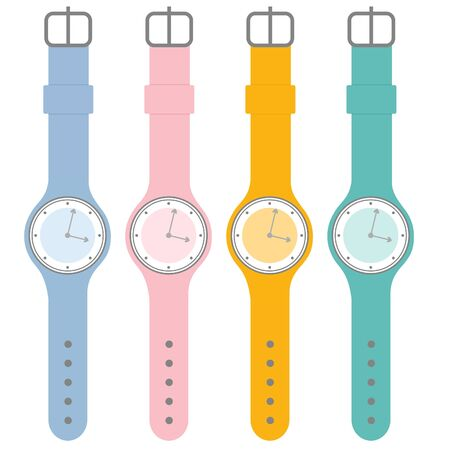 wristwatch: Colorful watches set