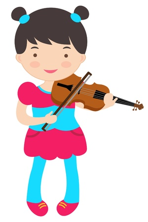 An illustration of cute violinist