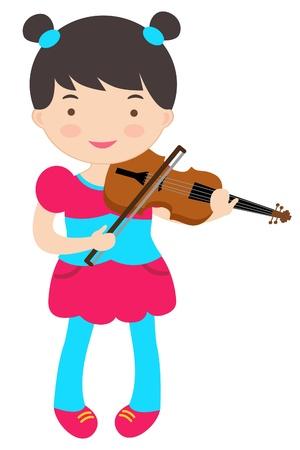 violinista: Una ilustración del violinista lindo