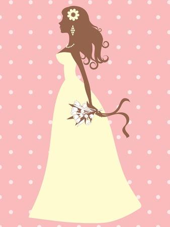 bride silhouette: An illustration of an elegant bride silhouette