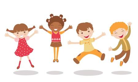 jumping kids: An illustration of jumping kids