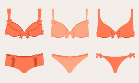 An illustration of three lingeries Vector