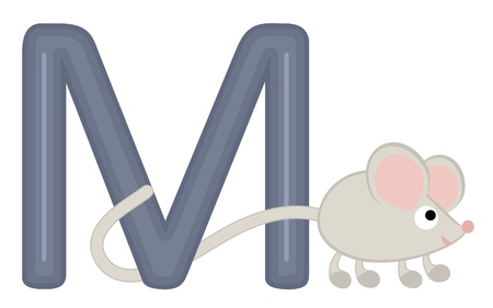 Illustration of M for mouse Stock Vector - 15917974