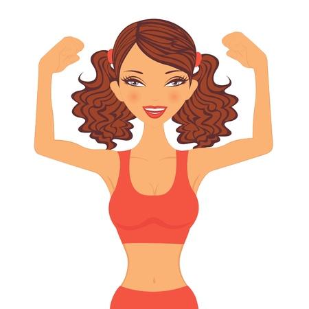 Un esempio di una ragazza forte sportiva