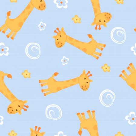 Giraffes seamless background Stock Vector - 16728042