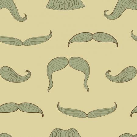 A  stylish mustache seamless pattern Illustration