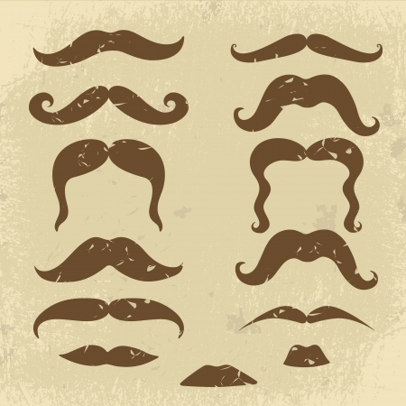 A Retro style mustaches collection Vector