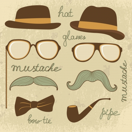 A Retro style mustache party Vector