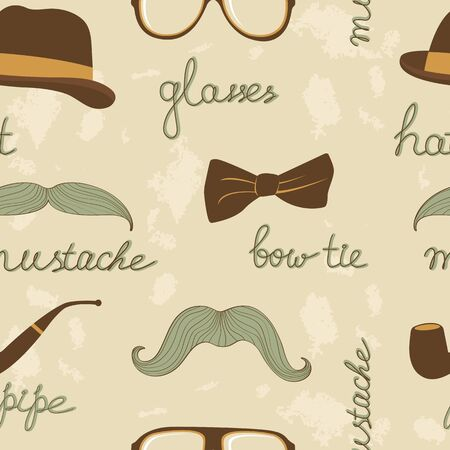 A stylish mustache party seamless pattern Vector