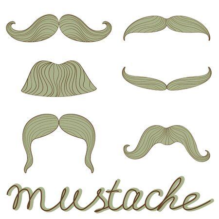A stylish retro mustaches set Vector