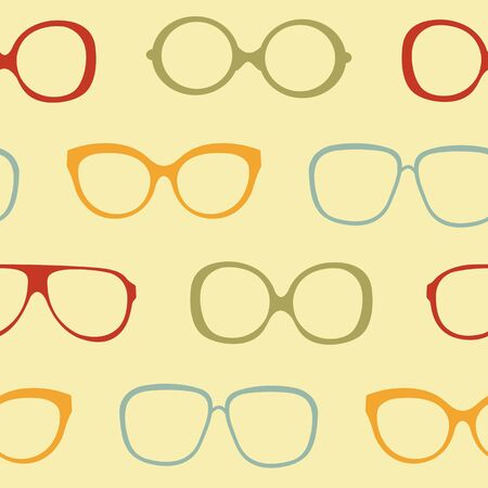 A colorful sunglasses seamless pattern Vector