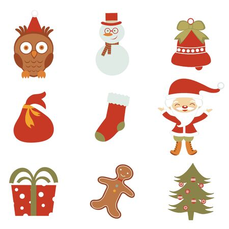 A colorful Christmas icons set Stock Vector - 16947823