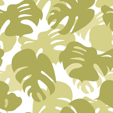 monstera leaf: Stylish Monstera leaves seamless pattern Illustration