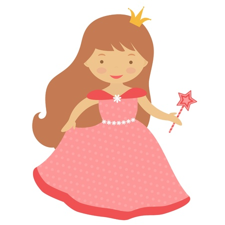 An illustration of cute little princess Vector