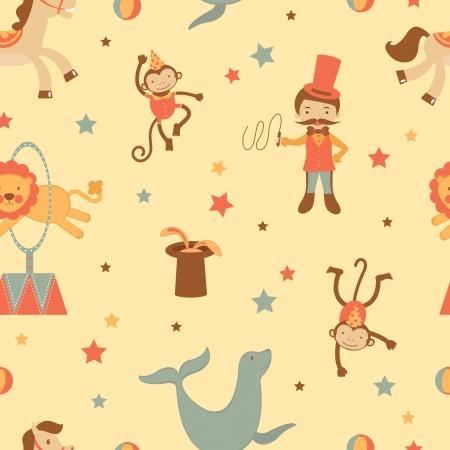 acrobacia: Un colorido fondo sin fisuras circo