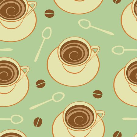 Coffee seamless pattern. Vector format Vector