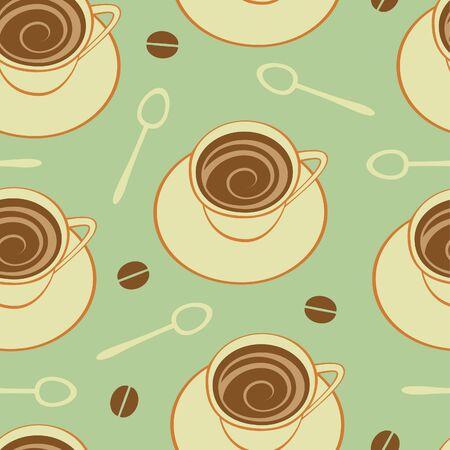 broun: Coffee seamless pattern. Vector format